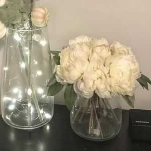 Artificial Peony Flowers Bunch - 10 Stems